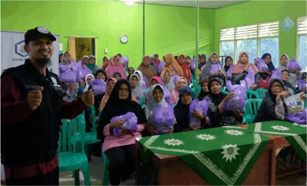 100 PAKET AMANAH ANDA, UNTUK DHU'AFA DESA KALIASARI – BANYUMAS