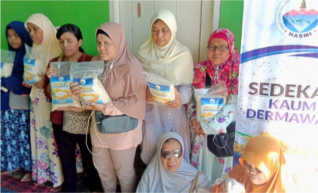 Distribusi Pangan untuk Komunitas tunanetra Kp. Cipayung Depok