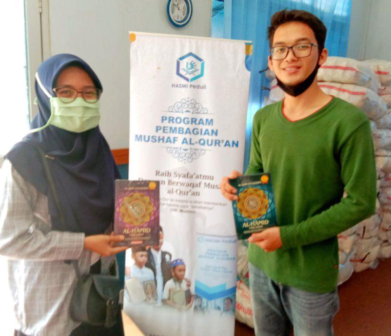 Hasmi Peduli Bekerja Sama dengan Alumni IPB Bogor, 50 Wakaf Qur'an untuk Santri Dhuafa