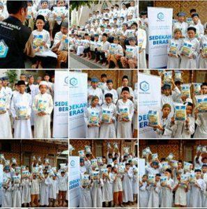 Bantuan Pangan untuk Santri Yatim Imam Hafs Kemang Bogor
