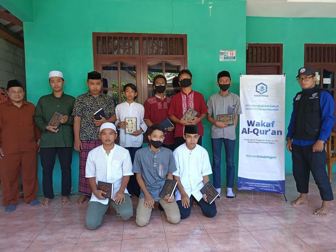 Distribusi Mushaf Al-Qur'an ke Yayasan Raudhatul Ulum Depok