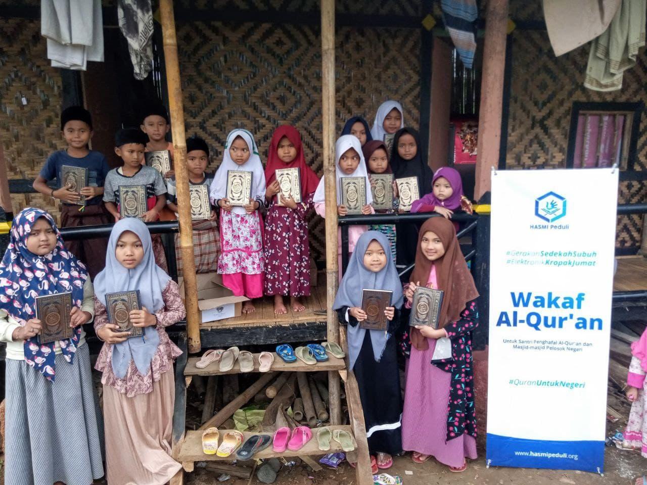 Wakaf Al-Quran untuk Ponpes Nurul Furqon Kab. Bogor