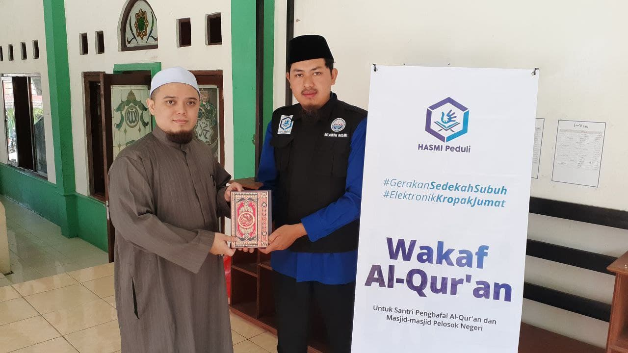 Wakaf Al-Quran untuk Ponpes Miftahul Huda
