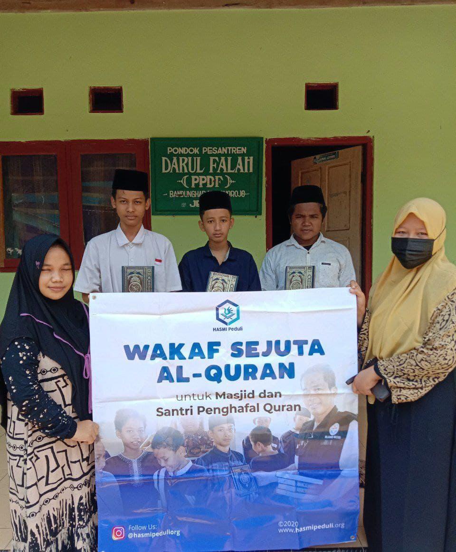 Wakaf Al-Quran untuk Ponpes Darul Falah Jepara