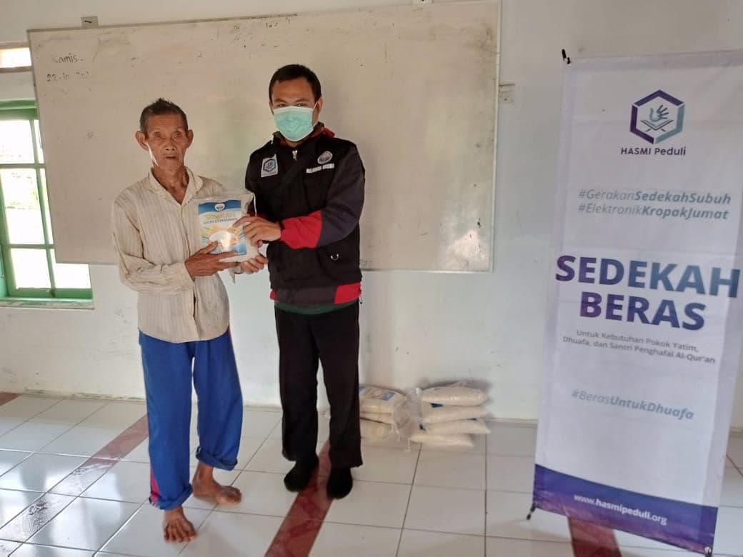 Distribusi Paket Beras di Kab Sukabumi