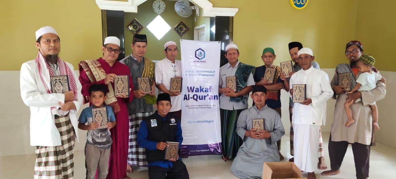 Wakaf Al-Qur'an untuk Mushola Ikhlasul Mujahidin Kab Bekasi